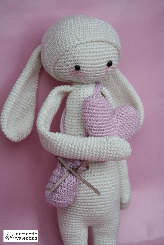 Meine Lalylala Rita The Rabbit Puppe Valentinahaekelt