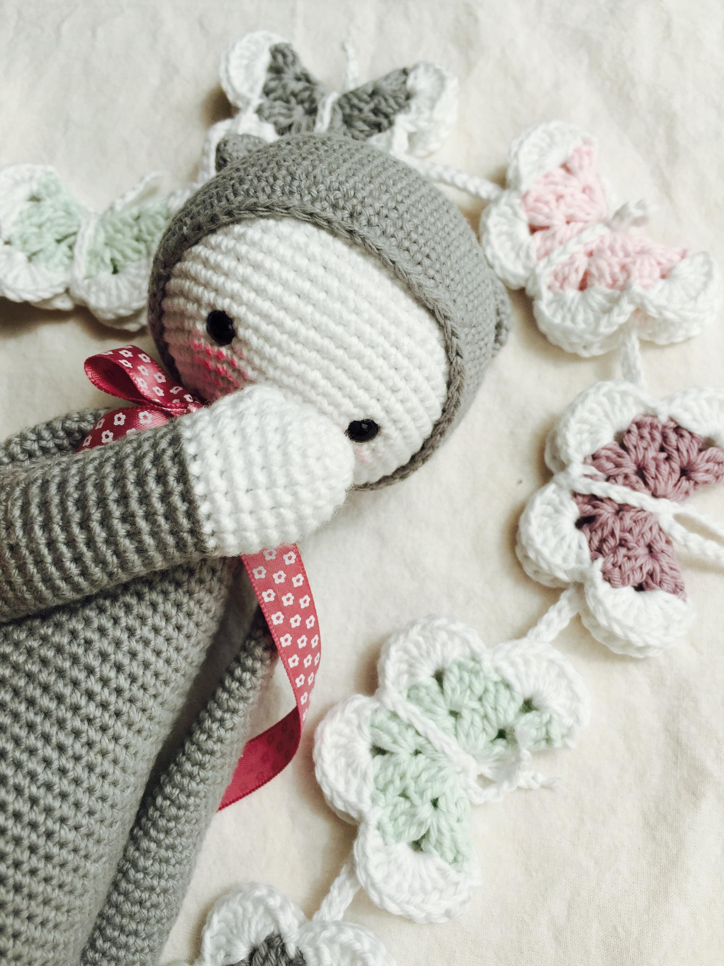 Babydecke Mit Passender Schmetterlingsgirlande Valentinahaekelt