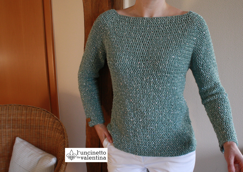 Anleitung Zum Pullover Häkeln Valentinahaekelt